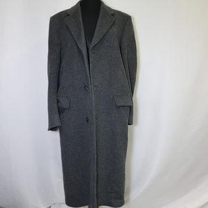 Vintage HAMMERSLEY Cashmere Blend Long Coat Sz 40R